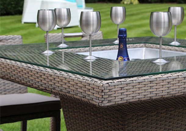 What is synthetic rattan furniture